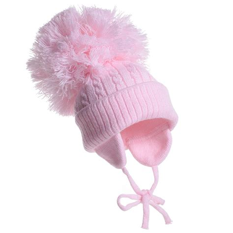 pink knits satila of sweden pink twine cable knit hat with