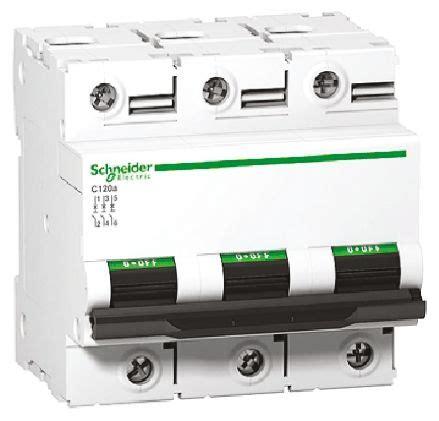 Mcb C120n Mini Circuit Breaker Schneider Acti9 3p 80a 3x80a a9n18367 acti 9 c120n mcb 3p 100 a 10 ka 20 ka curve