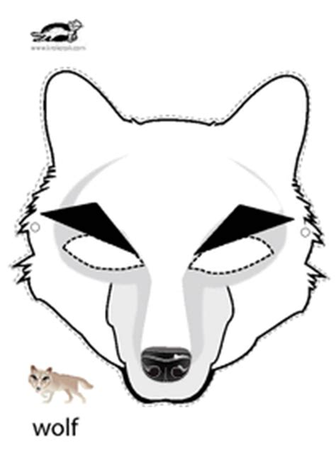 printable werewolf mask gallery for gt wolf mask for kids