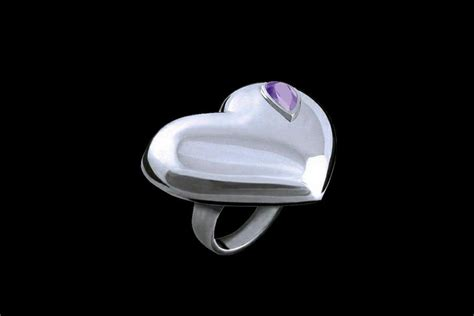 Fossil Fs045 Purple Box Exclusive mj luxury rings jewelry made of gold platinum
