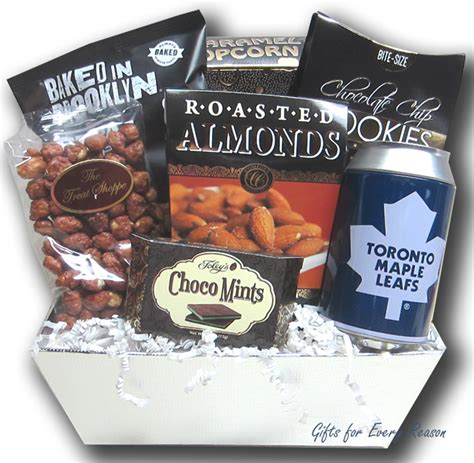 birthday delivery ideas for him toronto toronto maple leafs gift basket nhl gift baskets gifts