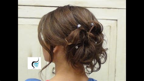 soft curled updo for hair prom or wedding hairstyles