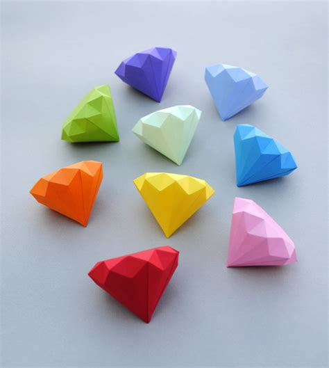 Paper Make - 3d paper diamonds minieco