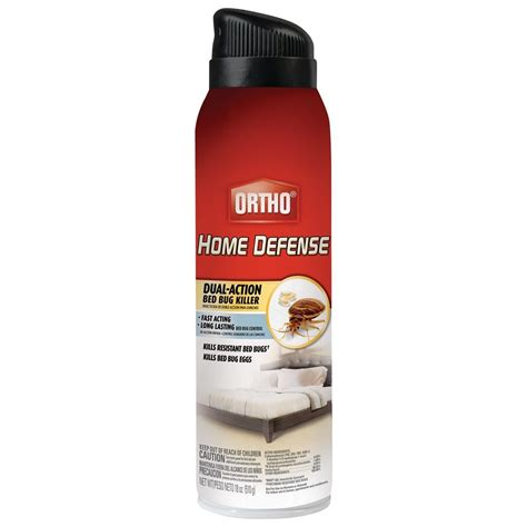 bed bugs killer spray ortho home defense dual action bed bug killer aerosol spray 18 ounce kills b ebay
