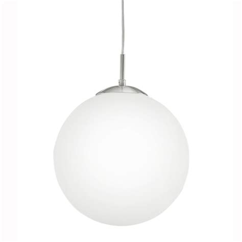 Eglo 85263 Rondo Large Opal White Glass Globe Pendant Light Large Glass Globe Pendant Light
