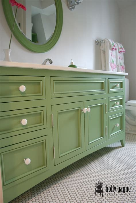 green bathroom cabinets custom vanity penny tile master bath pinterest