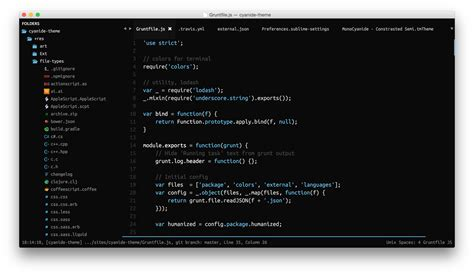 sublime text 3 cyanide theme theme cyanide packages package control