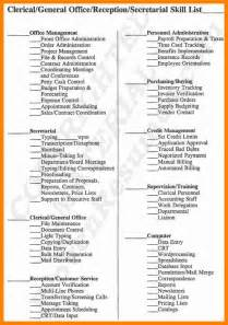 list of skills for a resume 7 resume skills list exle forklift resume