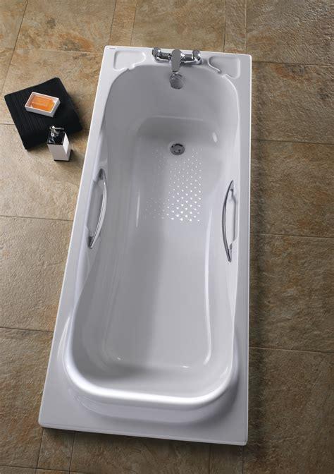 bathtub grips twyford signature single ended acrylic bath with grips