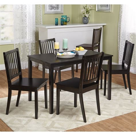walmart dining room sets shaker 5 dining set black walmart