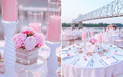 pink wedding theme pink and silver theme beautiful pedestal and bridal shower