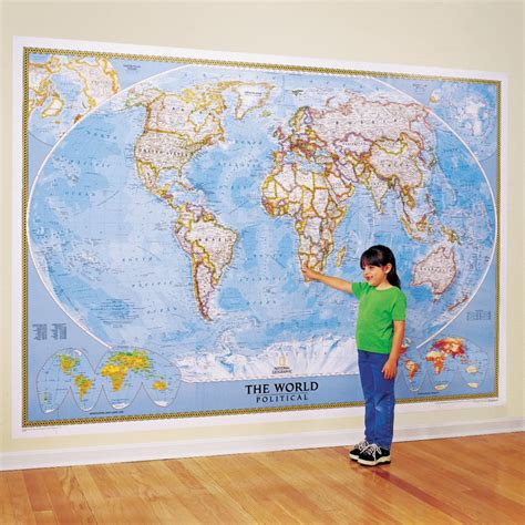 wall map the world for wall map laminated national geographic store