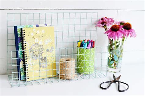 wire desk organizer diy wire desk organizer