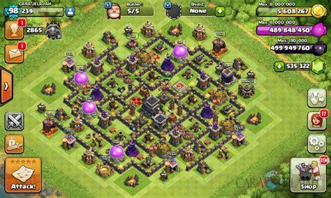 cara membuat pohon natal di game coc desain base town hall 9 terbaik dan terbaru clash of clans