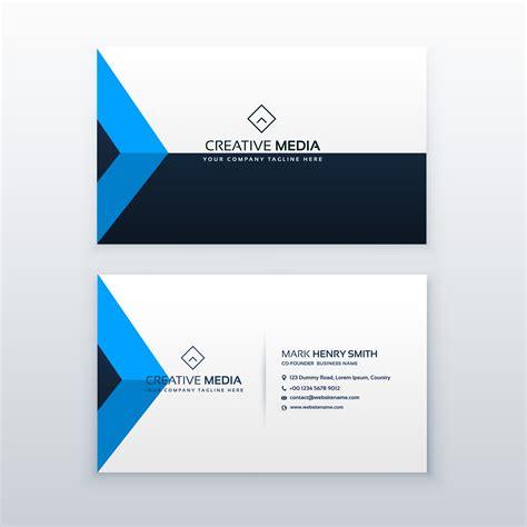 Clean Business Card Template Ai by Modern Clean Business Card Vector Design Template
