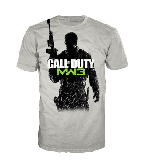 official t shirt call of duty sand mw3 soldier modern