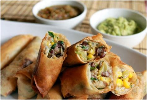 new year egg roll recipe new years appetizer mexican egg rolls handspire