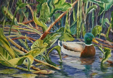 mary woodin england illustrator mallard ducks environmentally sound mallard duck painting by roxanne
