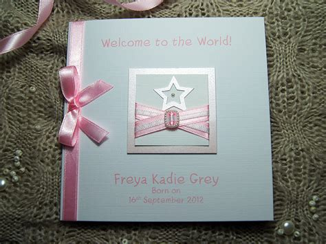 New Baby Handmade Cards - handmade new baby card