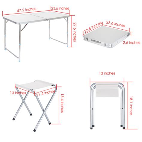 adjustable height folding table finether height adjustable aluminum folding table stool