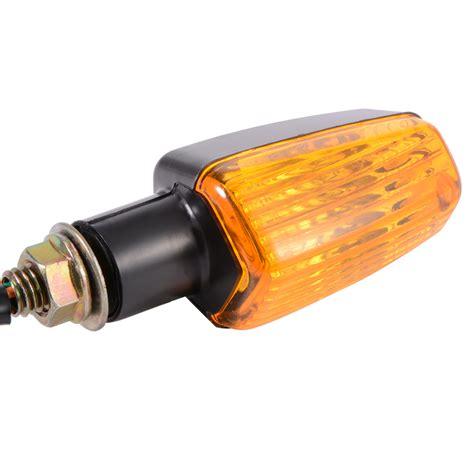 motorcycle turn signal lights 4x universal motorcycle motorbike amber turn signal