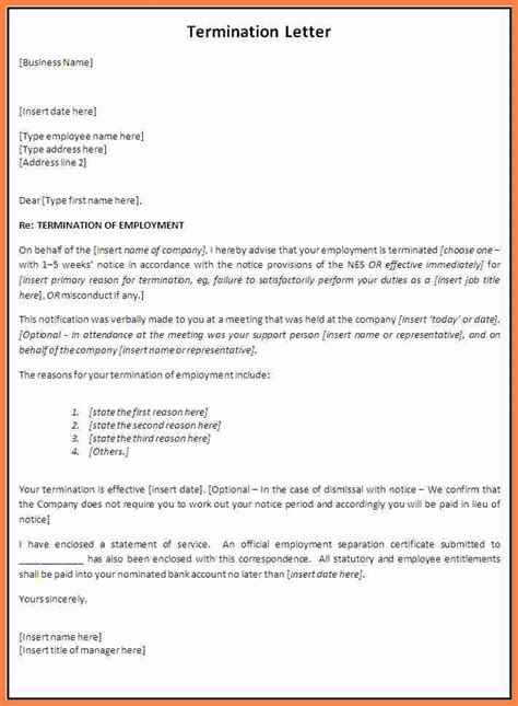 Termination Of Employment Letter Qld doc 585916 sle termination letter free termination letter template 33 free sle