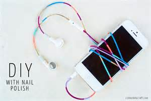 colored earbuds diy nail colored headphones