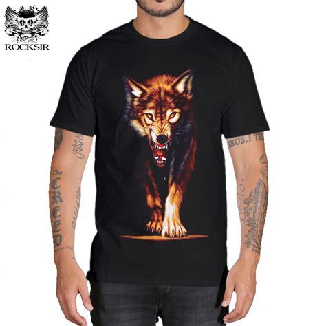 Wolf T Shirt Meme - rocksir 3d wolf t shirt mens brand 3d indians wolf print t