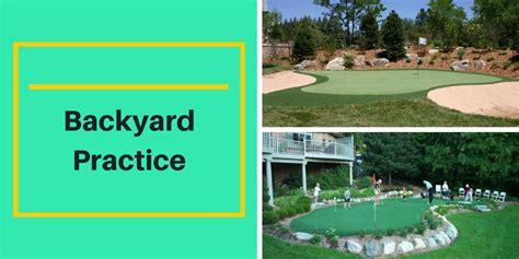 backyard golf practice golf chipping practice backyard