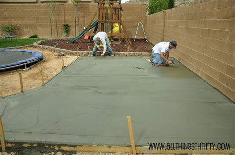 cement backyard ideas concrete patio project backyard landscaping update
