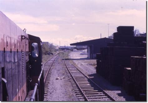 Railway Sleepers Dublin by New Ross Yard With A Stored Stack Of Sleepers And Fertiliser Evident In 1986