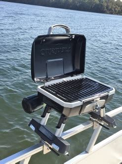 cuisinart boat grill cuisinart grill modified for pontoon with universal mid