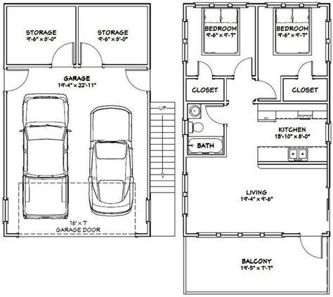garage apt floor plans 20x32 tiny house 20x32h7k 808 sq ft excellent