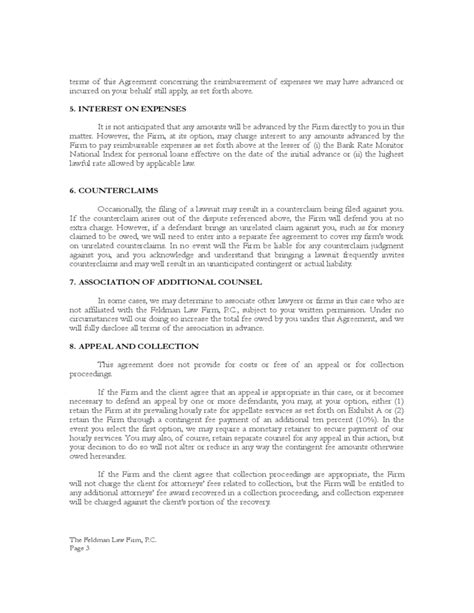 contingency fee agreement template standard contingent fee representation agreement free