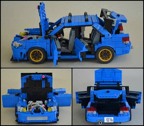 subaru lego impreza the lego car