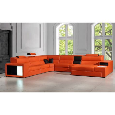 sofa orange color contemporary luxury furniture living room bedroom la