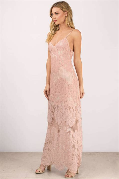 Id Pink Lace Dress maxi dress scalloped dress pink dress