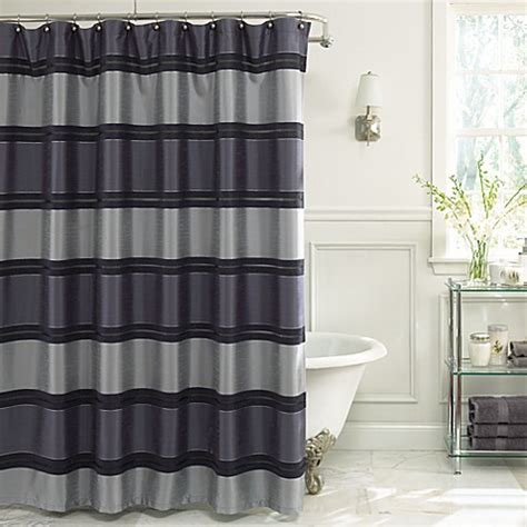 navy fabric shower curtain buy jardin stripe 72 inch x 72 inch fabric shower curtain