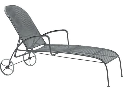 wrought iron patio chaise lounge woodard valencia wrought iron adjustable chaise lounge