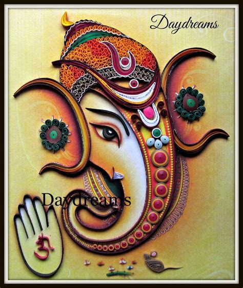 quilling ganesha tutorial daydreams quilled ganesha quilling pinterest