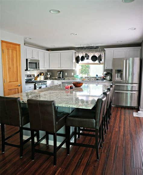 kitchen center island updated white kitchen with large center island simply