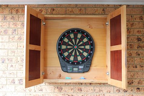 Large Dart Board Cabinet by Made By Mikal A Site For Physical Things That Michael
