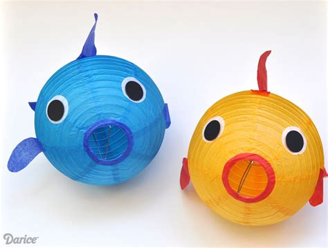 How To Make Paper Lantern Fish - fish craft decor make your own paper lantern fish