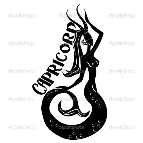 tattoo designs zodiac sign capricorn capricorn symbols capricorn zodiac sign stock
