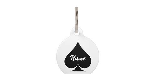 ace for dogs large ace of spades name pet tag for dogs and cats zazzle