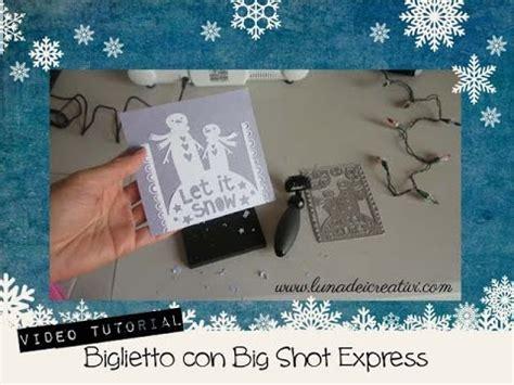tutorial sketchbook express italiano 3 biglietto con thinlits e big shot express video