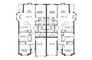 Duplex Townhouse Plans by Single Story Duplex Floor Plans Google Search