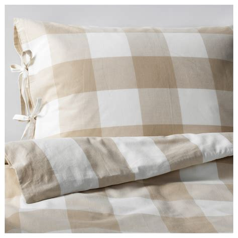 Quilt Ikea emmie ruta quilt cover and 4 pillowcases beige white