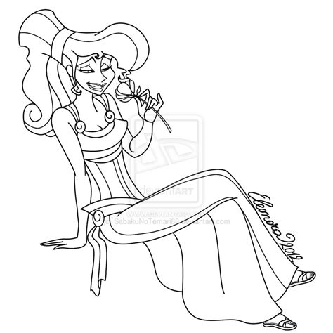 Megara Coloring Pages Megara Lineart By Sabakunotemari88 On Deviantart