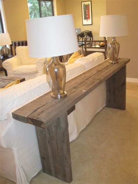 diy sofa bench 1000 ideas about table behind couch on pinterest behind